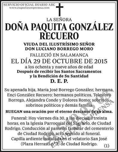 Paquita González Recuero
